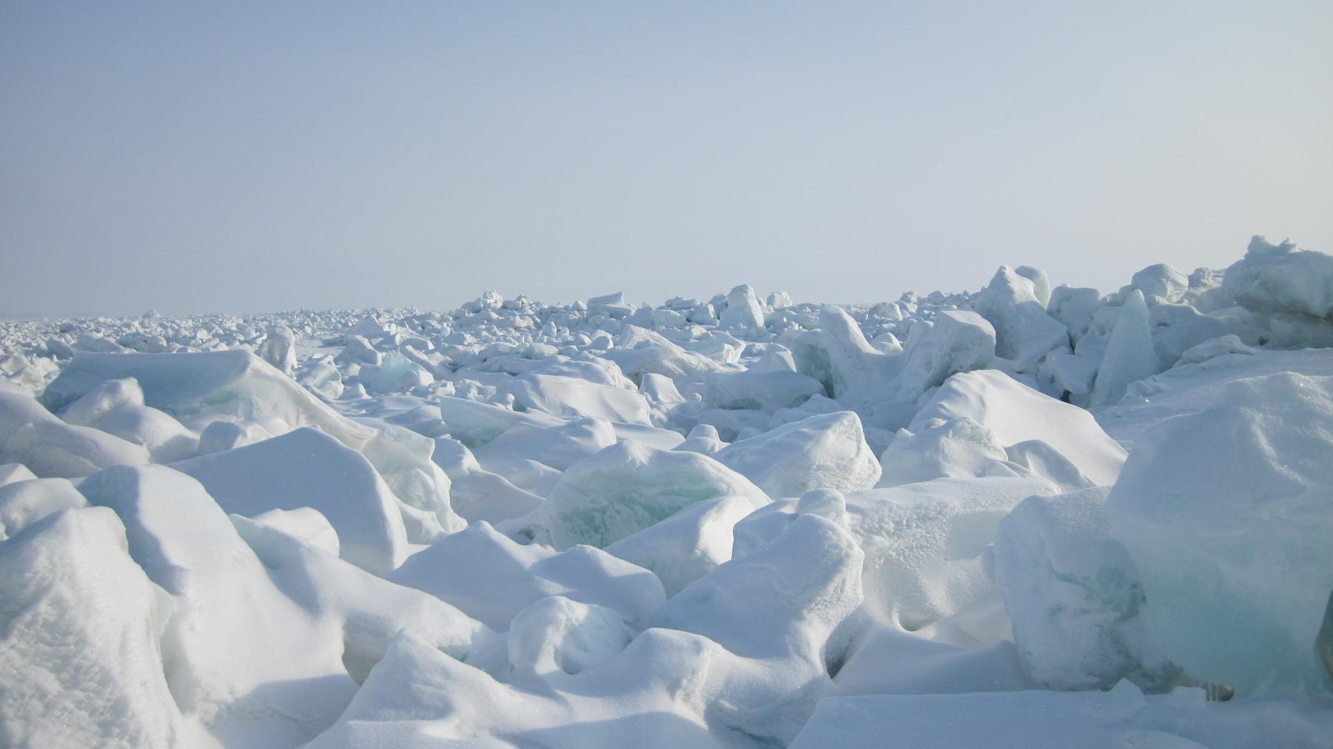 Laptev sea ice hummocks